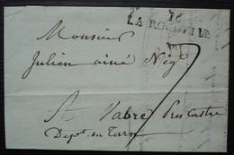 La Rochelle 29 Prairial L'an 12 (1805), Marque 42 X 9 Sur Lettre Pour Vabre (Tarn) - 1801-1848: Precursori XIX