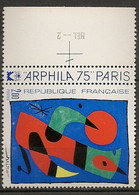 FRANCE 1974 TIMBRES 1811 ARPHILA 75 TABLEAU DE MIRO TYPE D IMPRESSION HEL - 2 - Ungebraucht
