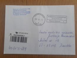Lithuania Litauen Cover Sent From Naujoji Akmene To Siauliai 2012 - Lituania