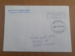 Lithuania Litauen Cover Sent From Kybartai To Siauliai 2011 - Lituania