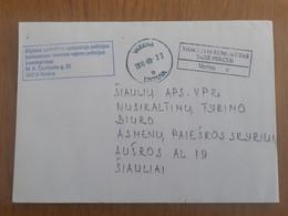 Lithuania Litauen Cover Sent From Panevezys To Siauliai 2011 - Lituania