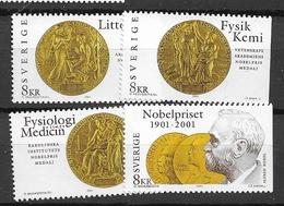 2001 MNH Sweden, Mi  2224-7 - Neufs