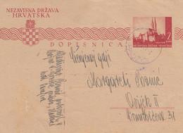 1943 Croatia NDH Stationery Hadzici , II Bojna 9.Gorske Pukovnije - Croatia