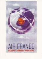 AIR FRANCE RÉSEAU AÉRIEN MONDIAL - 21 X 30 Cm - REPRO D'UNE AFFICHE VINTAGE IMPRIMÉE SUR TOILE - Posters