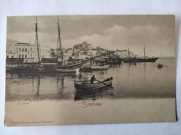 Cpa, Précurseur, Très Belle Vue Animée, SIRACUSA, Il Porto - Siracusa