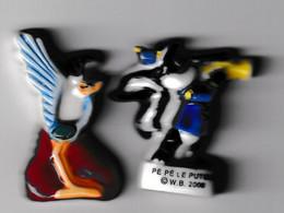 2 Fèves Bipbip Plate Et Pépé Le Putois W.B. 2000 - Dessins Animés