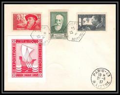 4437 France Lettre (cover) N°343/344 Rodin Anatole France Exposition Philatélique De Paris 21/6/1937 - Gedenkstempels