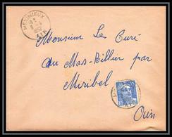 5070 N°886 Marianne De Gandon 1952 Ain MEXIMIEUX Pour L'Abbé Thomas Miribel Ain Lettre (cover) - 1945-54 Marianna Di Gandon