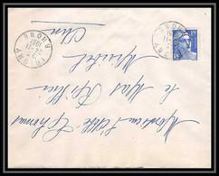 5306 N°886 Marianne De Gandon 1951 Rhône IRIGNY Pour L'Abbé Thomas Miribel Ain Lettre (cover) - 1945-54 Marianna Di Gandon