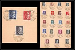 6001/ Allemagne (germany) Série Hitler Oblitération Metz France 4/4/1944 N°705/726 - Guerra Del 1939-45