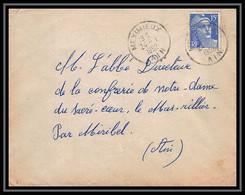 6334/ France Lettre (cover) N°886 Gandon 1952 Meximieux Pour Miribel AIN (abbé Thomas) - 1945-54 Marianna Di Gandon