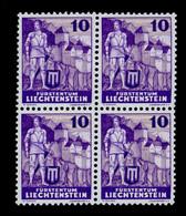 Liechtenstein Michel Nummer  158 I Postfrisch 4er Block - Nuevos