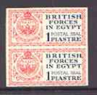 Egypt 1932 British Forces 1p Postal Seal Marginal Imperf Pair, Superb Unmounted Mint, SG A1 (normal Pair Cat £190) - Unused Stamps