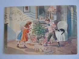 Noël Dessin Tofani Enfants Jouets Velo Poupée Sapin Bowling Kinderen Fiets Pop Kerstboom 1921 Paris 1 Coin Abimé - Andere