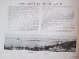 1940   L Aménagement Du Port  De MAJUNGA      Madagascar - Unclassified