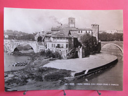 Italie - Roma - L'Isola Tiberina Con I Ponti Cestio E Fabricio - Excellent état - R/verso - Ponts