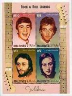 Maldives, 1995, Mi 2472-2482,The 15th Anniversary Of The Death Of John Lennon, Sheet Of 4v, Sheet Of 6v & Block 346, MNH - Muziek