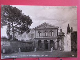 Visuel Très Peu Courant - Italie - Roma - Chiesa E Convento Di S. Sebastiano Sulla Via Appia - Excellent état - R/verso - Eglises