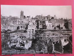 Italie - Roma - Panorama Con I Mercati Di Traiano - Foro Di Augusto - Foro Di Giulio E Via Dell'Imperio - R/verso - Autres Monuments, édifices