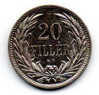 Hongrie -  20 Filler 1914 KB -  TTB+ - Hungary