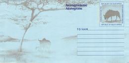 SOUTH AFRICA - AEROGRAMME WILDEBEEST Unc //Q154 - Aéreo