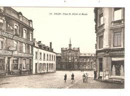 REF2866/ CP-PC Arlon Place St.Didier Et Musée Animée Utilisée En Feldpost - Aarlen