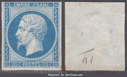 20c Empire Au Type II Neuf (*) Sans Gomme Aspect TB (Y&T N° 14B, Cote +++€) - 1853-1860 Napoléon III.