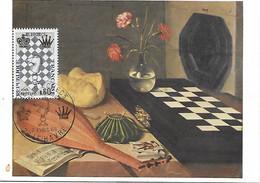 """1480 -JEU D'ECHECS, 1er Jour 2-4-66 LE HAVRE """"nature Morte à L'échiquier"""" BAUGUIN - TB - 1960-69"""