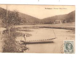 REF2869/ CP-PC Rochehaut - Passage D'Eau D'Houv. Animée Barque De Transport C.Relais-Etoile Rochehaut 14/3/29 TP193 - Bouillon