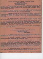 ° WW2 ° ORADOUR SUR GLANE ° Discours Prononcé Par Le Préfet Régional De Limoges Le 21 Juin 1944 ° - Documenti Storici