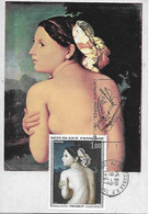 "1530 -INGRES LA BAIGNEUSE, Flamme Illustrée ""centenaire Ingres"" MONTAUBAN (TARN-ET-GARONNE) 1er Jour:9-9-67 TTB - 1960-69"