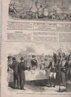 LE MONDE ILLUSTRE 03 07 1869 CAMP DE CHALONS - BEAUVAIS - CALAIS - CRICKET - GAND REIMS - POITIERS - PLACE CLICHY MONCEY - 1850 - 1899