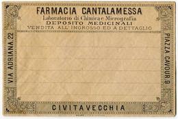 BUSTA PUBBLICITà FARMACIA CANALAMESSA CIVITAVECCHIA ROMA - Publicidad
