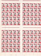 Indochine YT 67 Annamite Surcharge Croix Rouge N** MNH Feuille Complète 100 TP Rousseur Marge Basse - Ungebraucht
