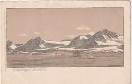 Spitzbergen - Belsund - Ship - Litho - Signed           (A-286-200724) - Norway