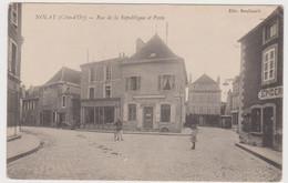 Nolay Rue De La Republique Et Poste Animé - Altri Comuni
