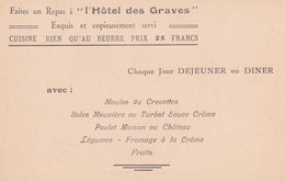 Villerville Sur Mer L'Hotel Des Graves Dinner Menu 3x Postcard Book - Zonder Classificatie