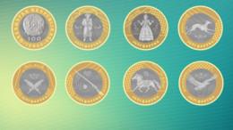 Set Of Kazakhstan 7 Coins 100 Tenge 2020 - Kazachstan