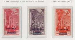 """Colonie - Cirenaica - 1932 - Posta Aerea Di Tripolitania Con """"sbarrette"""" Soprastampati S. Cpl 3v MNH** - Cirenaica"""