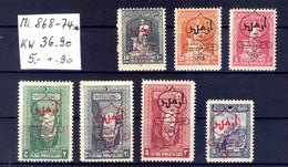 Türkey Michel N° 868, 869,870, 871,872,873,874 - Nuevos