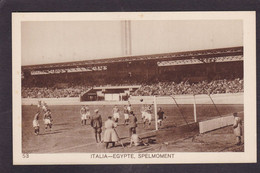 CPA Football Olympische Spelen 1928 Amsterdam Voir Dos Italie Egypte - Fussball