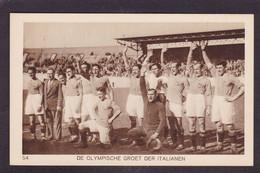CPA Football Olympische Spelen 1928 Amsterdam Voir Dos Italie - Fussball