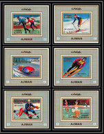 Ajman - 2613/ N°662/667 Jeux Olympiques (olympic Games) Sapporo 1972 ** MNH Deluxe Miniature Sheets Blocs Hockey - Winter 1972: Sapporo