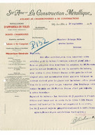 VP COURRIER 1926 (V2030) LA CONSTRUCTION MéTALLIQUE (1 Vue) Ateliers De Chaudronneries Et Constructions GILLY-SART-ALLET - 1900 – 1949