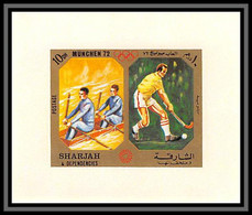 Sharjah - 2191/ N°943 Rowing Hockey Aviron Munich 1972 Jeux Olympiques Olympic Games Miniature Deluxe Sheet Neuf ** MNH - Sharjah