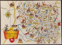 Ak  Deutschland -  Landkarte - Gruß Aus Dem Harz - Maps