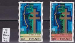 Timbre France, 1941, Général De Gaulle, Variété Sans Le Rouge, Signé Clavès - Variétés: 1970-79 Neufs