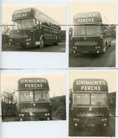 4 PHOTOGRAPHIES . Ancien Camion BERLIET. Camion De Déménagements PERCHE. LYON . IMATRICULATION 5735 BF 69 - Auto's