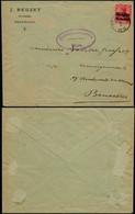 DEL028 - Lettre Censurée De Beauraing à Bruxelles 1916 Cachet Elliptique De Givet France - Altre Lettere
