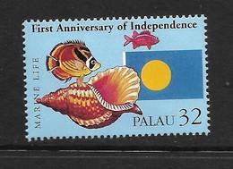 PALAU 1998 COQUILLAGE-POISSON-DRAPEAUX YVERT N°840 NEUF MNH** - Conchiglie